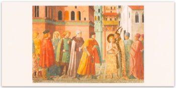 Biglietto Benozzo Gozzoli : Storie Di S.Francesco. La Rinuncia Ai Beni