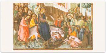 Biglietto Lorenzetti, Entrata Di Gesù In Gerusalemme