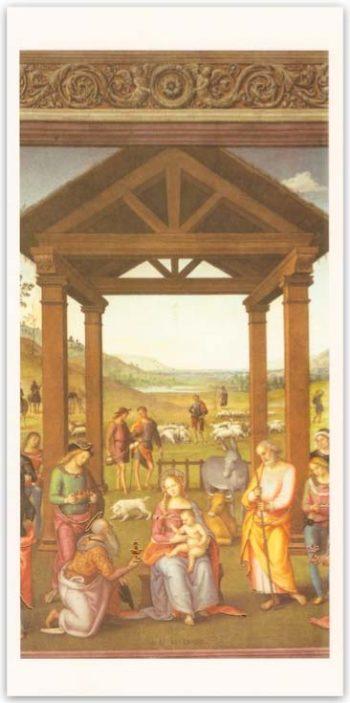 Biglietto Perugino, Adorazione Dei Magi