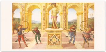 Biglietto Perugino, Martirio Di San Sebastiano