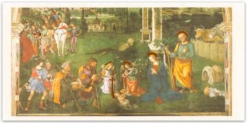 Biglietto Pinturicchio, Adorazione Dei Pastori E Arrivo Dei Magi