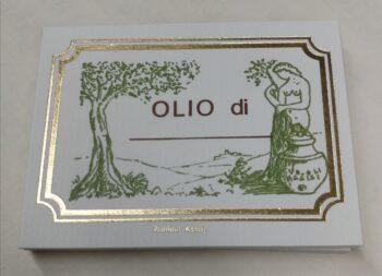 Etichette Adesive Olio