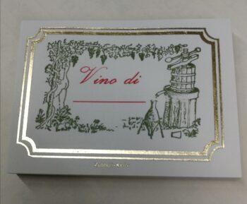 Etichette Adesive Vino