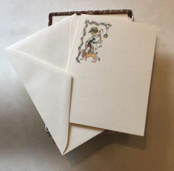 Biglietti A Libro Carta Fedrigoni Decorazione Leone