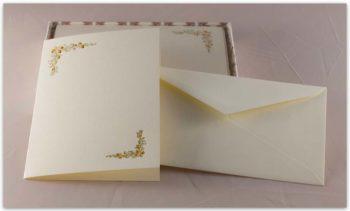 Biglietti A Libro Carta Fedrigoni Decorazione Ghiande