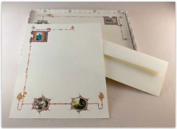 Carta Da Lettere Fedrigoni Decorazione 3 Quadri Assisi