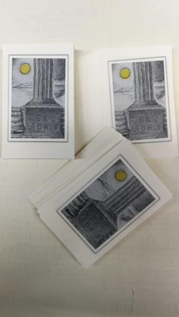Ex Libris Decorazione Tempio Di Minerva