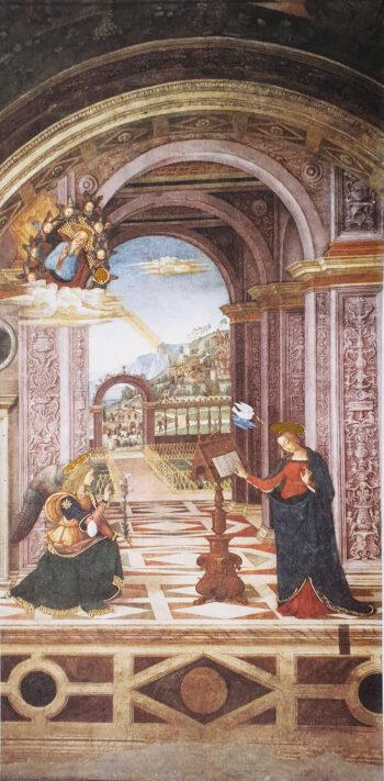 Biglietto Pinturicchio Annunciazione Spello