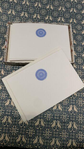 Biglietti Artistici Medievalis San Marco Cartoncino Singolo Decorazione Rosone Blu